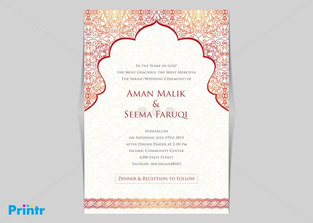 Invitation Printing Dubai Corporate Party Cards. Arabic Invitation Designs  Source. Wedding Invitation Template Arabic